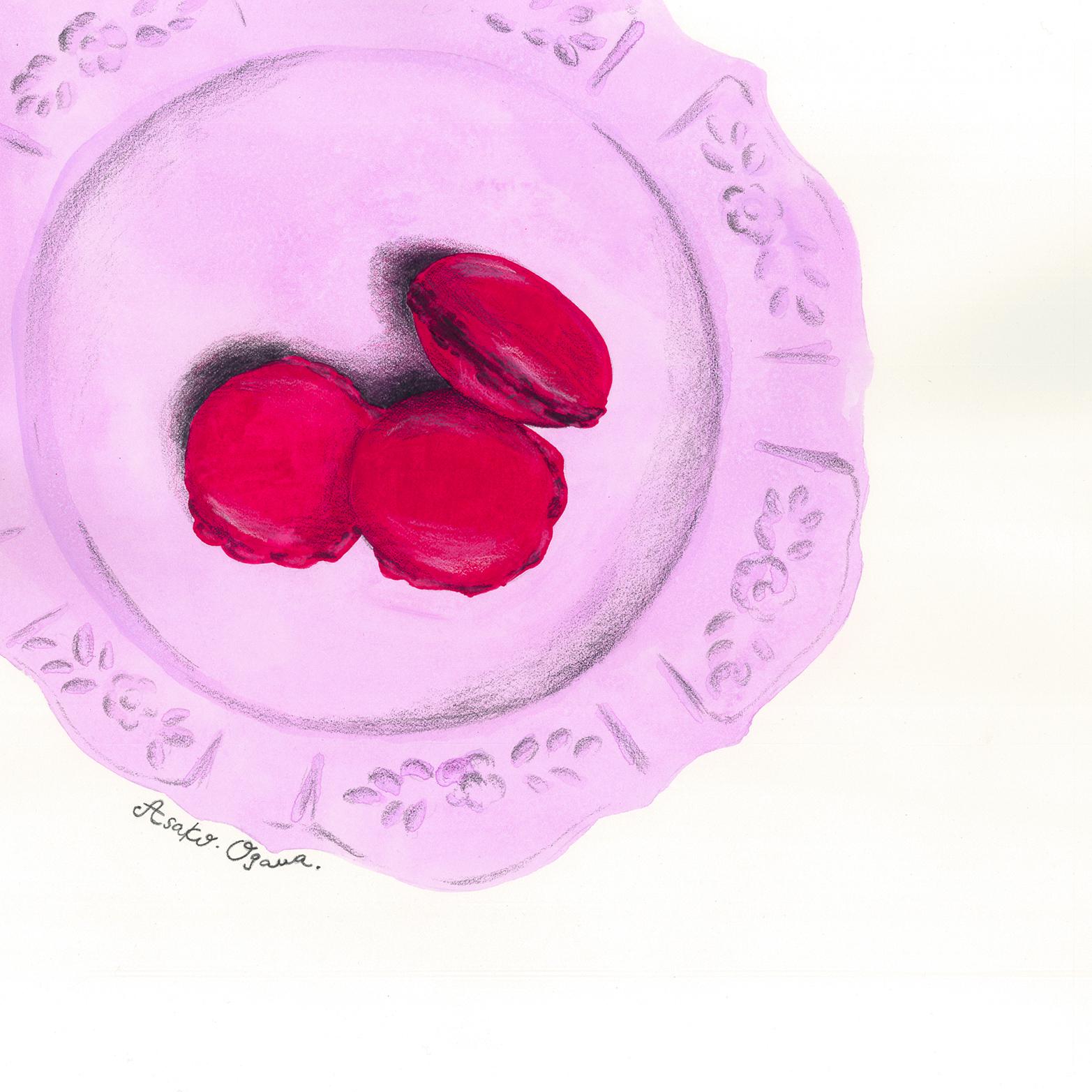 web) Pink macaron